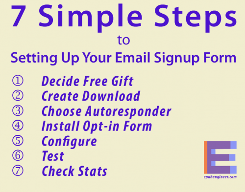 setting up your blog's email sign up form