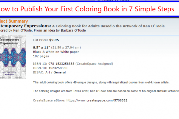 How to Publiush Your First Coloring Book